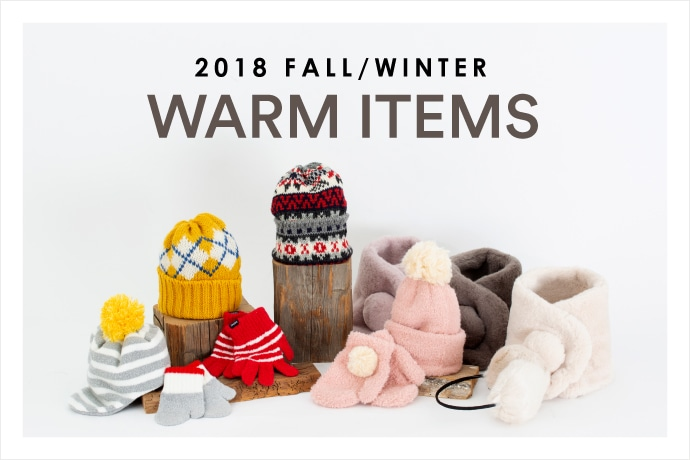 【SHIPS KIDS】2018Fall&Winter<Warm Items Collection>