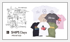 SHIPS Days PRINTED Tシャツ